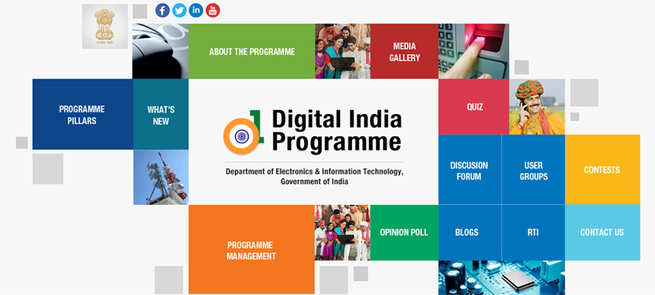 Give your feedback and select your favourite Homepage Design for Digital India programme Website Option-2